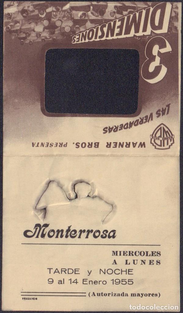 Cine: Programa troquelado de LOS CRÍMENES DEL MUSEO DE CERA (1953) - Cine Monterrosa de Reus - Foto 3 - 202825243