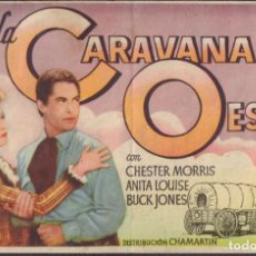 Folhetos de mão de filmes antigos de cinema: PROGRAMA SENCILLO DE LA CARAVANA DEL OESTE (1940) - TEATRO CIRCO DE ALCOY. Lote 202826826