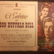 Cine: EL SOBRINO DE BUFFALO BILL - DOBLE - CON PUBLICIDAD. Lote 202898953