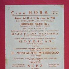 Cine: GOYESCAS, IMPERIO ARGENTINA - AÑO 1945 - FOLLETO - CINE HORA - BARCELONA...L948. Lote 203141615