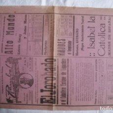 Cine: EL JOROBADO , ALTO MANDO 1939 AÑO DE LA VICTORIA PROGRAMA LOCAL GRANDE T110. Lote 203168918