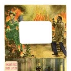 Folhetos de mão de filmes antigos de cinema: LOS CRÍMENES DEL MUSEO DE CERA, CON VINCENT PRICE.. Lote 203198536