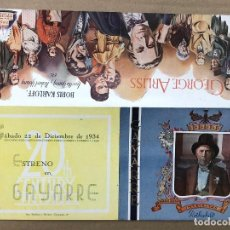 Foglietti di film di film antichi di cinema: FOLLETO DE MANO LA CASA ROTHSCHILD. BORIS KARLOFF. TEATRO GAYARRE, PAMPLONA. AÑO 1934. Lote 203234998