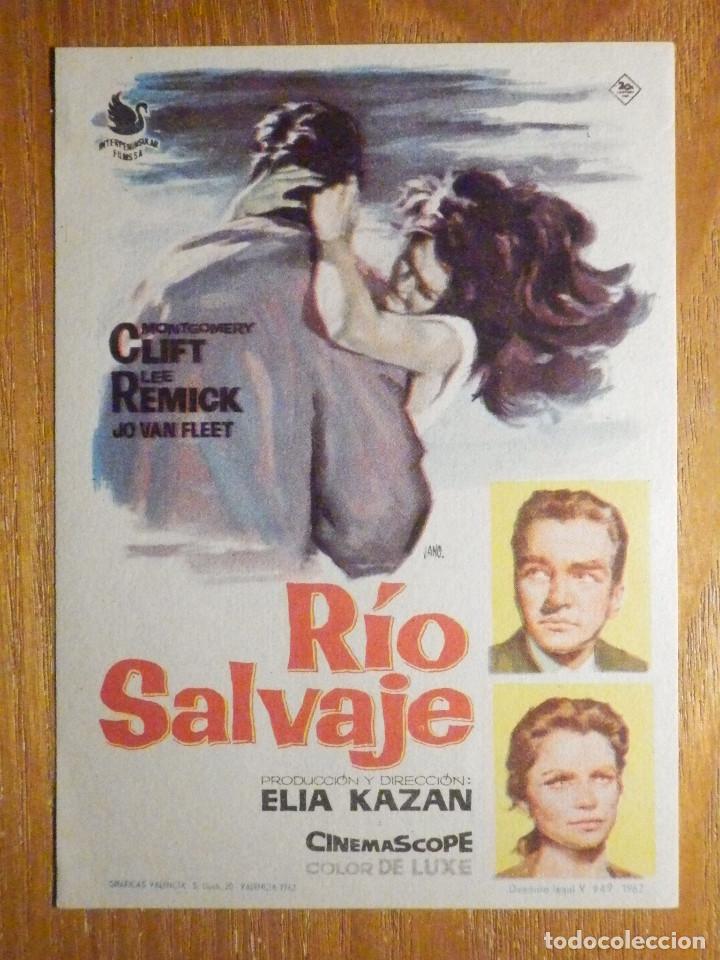 FOLLETO DE MANO CINE - PELÍCULA FILM - LARGOMETRAJE - RIO SALVAJE (Cine - Folletos de Mano - Westerns)