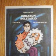 Cine: FOLLETO DE MANO CINE - PELÍCULA FILM - LARGOMETRAJE - CORAZÓN SOLITARIO. Lote 203299367