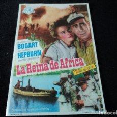 Folhetos de mão de filmes antigos de cinema: LA REINA DE AFRICA THE AFRICAN QUEEN, HUMPHREY BOGART - KATHARINE HEPBURN CINE VESA DE VITORIA. Lote 203313822