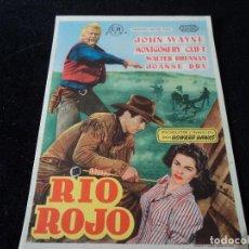 Cine: RIO ROJO - FOLLETO MANO ORIGINAL - JOHN WAYNE MONTGOMERY CLIFT JOANNE DRU. Lote 203342822