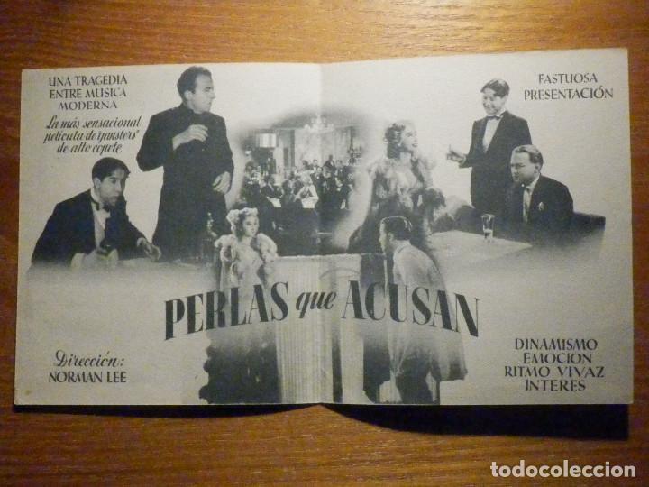 Cine: FOLLETO DE MANO CINE - PELÍCULA FILM- LARGOMETRAJE PERLAS QUE ACUSAN - - Foto 2 - 203356456