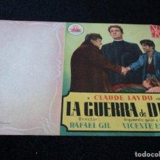 Cine: FOLLETO DE MANO - LA GUERRA DE DIOS - 1953 PACO RABAL JAIME BLANCH. Lote 203384756