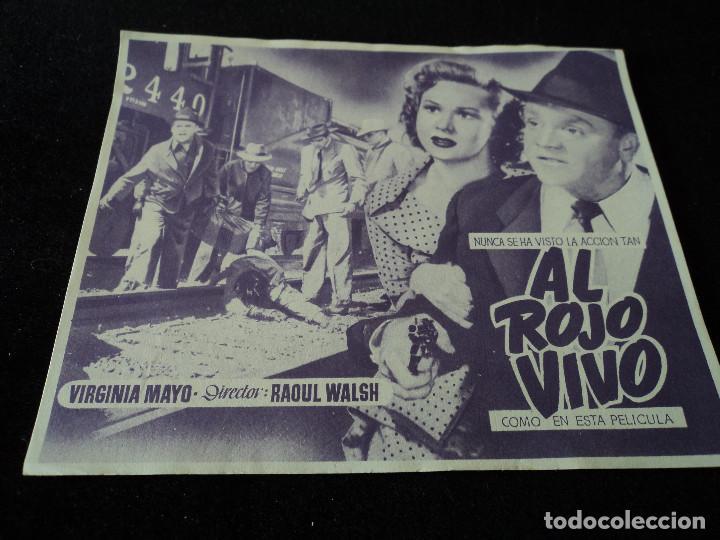 AL ROJO VIVO / JAMES CAGNEY / VIRGINIA MAYO (Cine - Folletos de Mano - Acción)