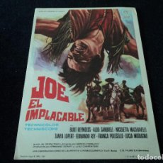 Cine: JOE EL IMPLACABLE BURT REYNOLDS FERNANDO REY. Lote 203391833