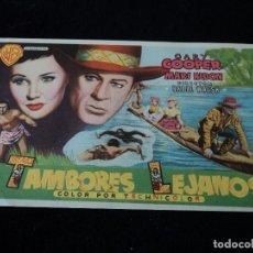 Cine: TAMBORES LEJANOS, GARY COOPER, MARI ALDON. Lote 203392602