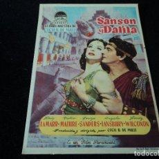 Cine: PROGRAMA SANSON Y DALILA - HEDY LAMARR, VICTOR MATURE. Lote 203393055