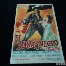 Cine: EL PIRATA NEGRO 1961 RICARDO MONTALBÁN, VINCENT PRICE, GIULIA RUBINI, LIANA ORFEI, MARIO FELICIANI. Lote 203393822