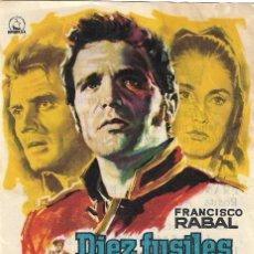 Cine: PN - PROGRAMA DE CINE - DIEZ FUSILES ESPERAN - FRANCISCO RABAL - CINE ECHEGARAY (MÁLAGA) - 1960.. Lote 203427533