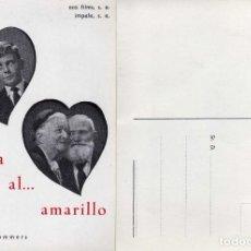 Cine: FOLLETO DE MANO DEL ROSA AL ...AMARILLO. FORMATO POSTAL DE CORREOS. Lote 203444018
