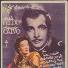 Folhetos de mão de filmes antigos de cinema: PROGRAMA SENCILLO DE LA MUJER DE TODOS (1946) - CINEMA GOYA DE ALCOY. Lote 203487423