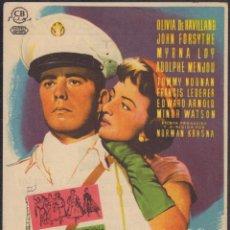 Folhetos de mão de filmes antigos de cinema: PROGRAMA SENCILLO DE LA HIJA DEL EMBAJADOR (1956) - CINEMA GOYA DE ALCOY. Lote 203502416