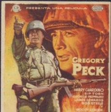 Cine: PROGRAMA SENCILLO DE LA CIMA DE LOS HÉROES (1959) - CINEMA GOYA DE ALCOY. Lote 203506132