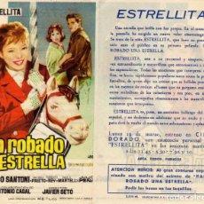 Cine: FOLLETO DE MANO HAN ROBADO UNA ESTRELLA. CINE DORADO ZARAGOZA. Lote 203537467