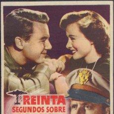 Cine: PROGRAMA SENCILLO DE TREINTA SEGUNDOS SOBRE TOKIO (1944) - TEATRO MENACHO DE BADAJOZ. Lote 203619741