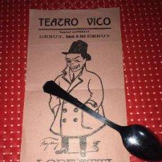 Cine: TEATRO VICO - JUMILLA ( MURCIA ) - TOURNET LOPRETTI - DEBUT - SÁBADO 14 DE ABRIL - AÑOS 30. Lote 203724033