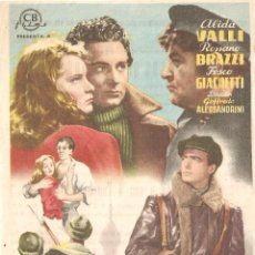 Cine: LOS QUE VIVIMOS - GOFFREDO ALESSANDRINI - ALIDA VALI - VICTORIA - SANT FELIU DE GUÍXOLS - 1942. Lote 203836423