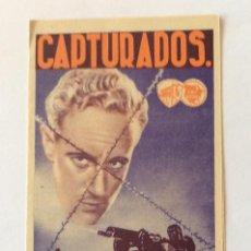 Cine: PROGRAMA DOBLE CON CINE IMPRESO. WARNER. LESLIE HOWARD, DOUGLAS FAIRBANKS, PAUL LUKAS. CAPTURADOS.. Lote 203867358