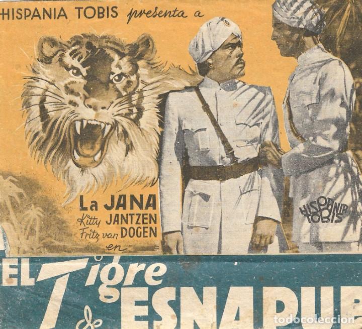 PROGRAMA DOBLE - EL TIGRE DE ESNAPUR - LA JANA, KITTY JANTZEN - 1938 - SIN PUBLICIDAD. (Cine - Folletos de Mano - Drama)
