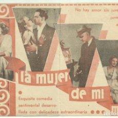 Cine: PTCC 046 LA MUJER DE MI MARIDO PROGRAMA DOBLE CIFESA ELISSA LANDI. Lote 204077351
