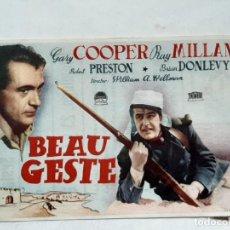 Cine: PROGRAMA GRAN CINEMA SESTAO.. BEAU GESTE CON GARY COOPER Y RAY MILLAND. AÑOS 40. Lote 204081862