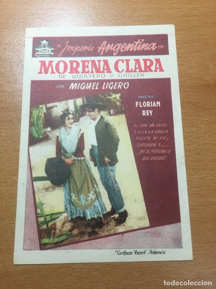 Cine: PROGRAMA CINE MORENA CLARA DE IMPERIO ARGENTINA SIN PUBLICIDAD - Foto 2 - 59145180