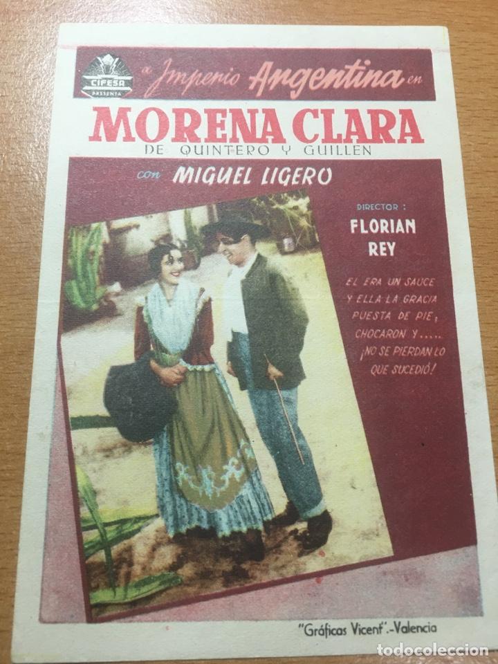Cine: PROGRAMA CINE MORENA CLARA DE IMPERIO ARGENTINA SIN PUBLICIDAD - Foto 4 - 59145180