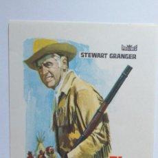 Cine: EL ASALTO DE LOS APACHES STEWART GRANGER PROGRAMA DE CINE SIN PUBLICIDAD. Lote 204138681