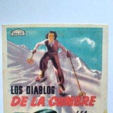 Cine: LOS DIABLOS DE LA CUMBRE PROGRAMA DE CINE CON PUBLICIDAD ARAJOL. Lote 204143726