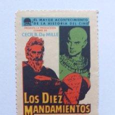 Cine: LOS DIEZ MANDAMIENTOS CHARLTON HESTON PROGRAMA DE CINE TROQUELADO. Lote 204147935