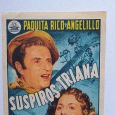 Cine: SUSPIROS DE TRIANA PAQUITA RICO ANGELILLO PROGRAMA DE CINE SIN PUBLICIDAD. Lote 204150473