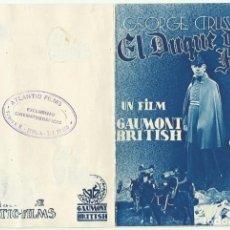 Cine: PTCC 046 EL DUQUE DE HIERRO PROGRAMA DOBLE ATLANTIC GEORGE ARLISS GLADYS COOPER. Lote 204151882