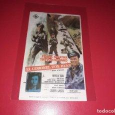 Cine: EL CORONEL VON RYAN CON FRABNK SINATRA Y TREVOR HOWARD . PUBLICIDAD AL DORSO. AÑO 1965. Lote 204179991