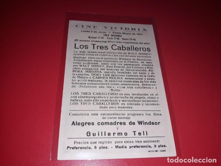 Cine: Los Tres Caballeros Walt Disney. Publicidad al dorso. Año 1944 - Foto 2 - 204185016