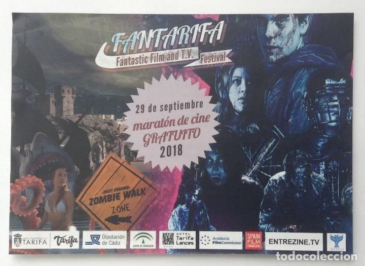 FANTATARIFA FANTÁSTICO FILM AND T.V. TARIFA 2018 FLYER CON LA PROGRAMACIÓN (Cine - Folletos de Mano - Ciencia Ficción)