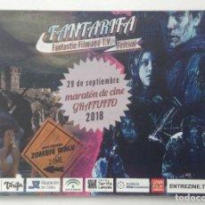 Cine: FANTATARIFA FANTÁSTICO FILM AND T.V. TARIFA 2018 FLYER CON LA PROGRAMACIÓN. Lote 204222343