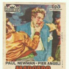 Cine: PTCC 048 MARCADO POR EL ODIO PROGRAMA SENCILLO PROCINES PAUL NEWMAN RARO. Lote 204275182