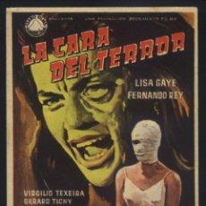 Cine: P-8754- LA CARA DEL TERROR (LISA GAYE - VIRGILIO TEIXEIRA - FERNANDO REY - CONCHA CUETOS). Lote 204316563