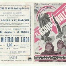 Cine: PTCC 048 EL AGUILA Y EL HALCON PROGRAMA DOBLE PARAMOUNT CARY GRANT CAROLE LOMBARD FREDRIC MARCH. Lote 204318276