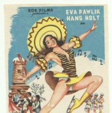 Cine: PTCC 048 FESTIVAL SOBRE EL HIELO PROGRAMA SENCILLO EOS EVA PAWLIK HANS HOLT PATINAJE NO ESTRENADA ?. Lote 204321151