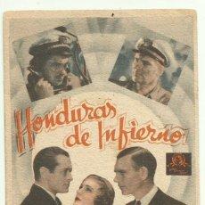 Cine: PTCC 049 HONDURAS DE INFIERNO PROGRAMA TARJETA MGM ROBERT MONTGOMERY WALTER HUSTON MAGDE EVANS. Lote 204322895