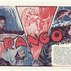 Cine: PTCC 049 RANGO PROGRAMA DOBLE PARAMOUNT ERNEST B. SCHOEDSACK SUMATRA. Lote 204325193