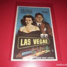 Folhetos de mão de filmes antigos de cinema: LAS VEGAS CON VICTOR MATURE. PUBLICIDAD AL DORSO. AÑO 1952.. Lote 204331238