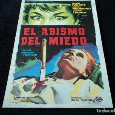 Cine: EL ABISMO DEL MIEDO FREDDIE FRANCIS MOIRA REDMOND. Lote 204340473